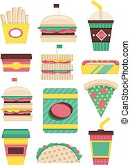 Fast Food Patterns Flat