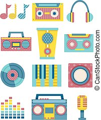 Music Elements Patterns Flat - Flat Illustration Featuring...