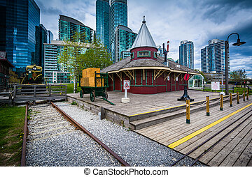 Don Station at Roundhouse Park, in Toronto, Ontario