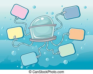 Submarine Boards - Illustration Featuring Colorful Boards...