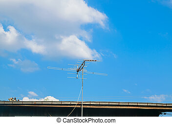 TV antenna on house