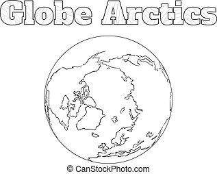 Globe Arctic view