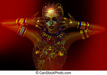 Egyptian Goddess - Egyptian fantasy image of a goddess of...