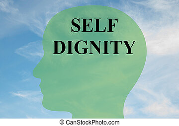 Self Dignity mental concept - Render illustration of SELF...
