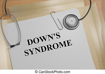 Downs Syndrome medicial concept - 3D illustration of DOWNS...