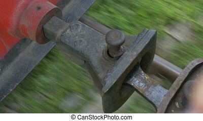 Vintage Steam Train Coupling - A vintage steam train between...