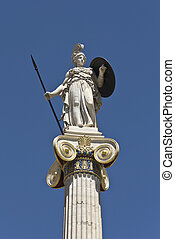 Statue of Athena at the Academy of