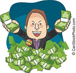 Man Political Candidate Money - Illustration of a Political...