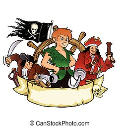 Peter Pan and the pirates emblem