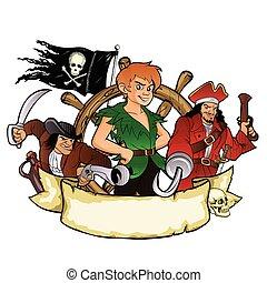 Peter Pan and the pirates emblem