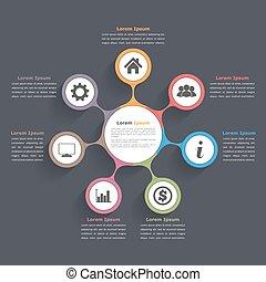 Circle Diagram Seven Elements