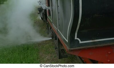 Narrow Gauge Railway Train - Vintage steam train is running...
