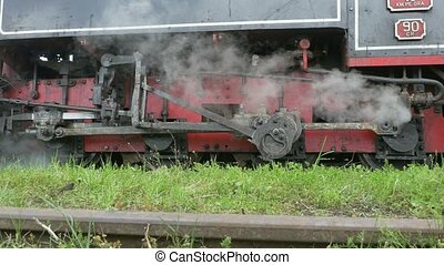 Motion Transmission Frame Steam Train - A steam train...