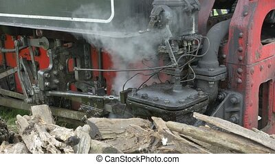 Steam Train Valve Gear - Steam pressure out of a blast valve...