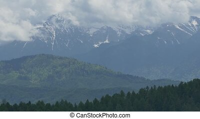 Mountains at the Horizon - Piatra Craiului Mountans and...