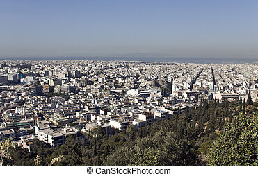 View of Athens city at Greece