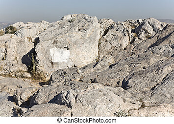 Ancient law court of Areopagus rock