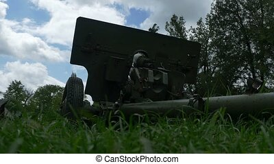 Cannon and the Sky - Timelapse from grass ground of a cannon...