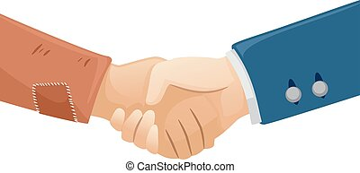 Hands Rich Poor Handshake - Illustration of a Rich Man...