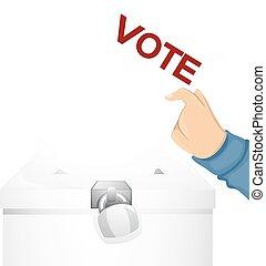 Hand Vote Ballot Box