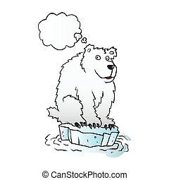 Polar bear on an ice floe.vector il