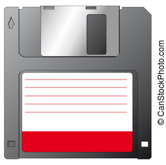 Floppy - illustration of a floppy disk with a blank label