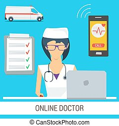 Online Doctor Consultation Concept
