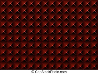 Red Pyramidal Seamless Texture - Geometrical Background...