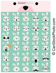 Bunny emoji icons