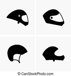 Paragliding helmetss, shade pictures