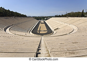 Panathenaic stadium at Athens - Panathenaic stadium at...
