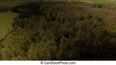 Aerial, Bavarian Landscapes, Germany - native footage, out...