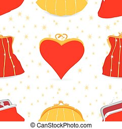 Seamless bags pattern, made of different styles female...