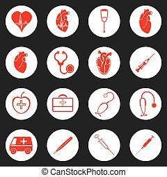 Medicine red and white icon Vector illustration image