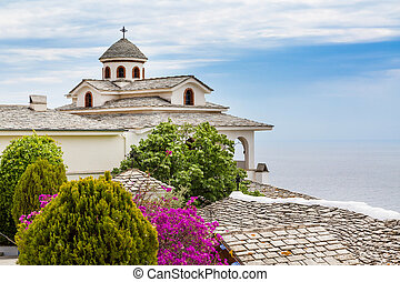 Monastery of Archangel Michael, Thassos island, Greece -...