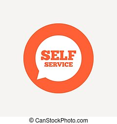 Self service sign icon Maintenance symbol - Self service...