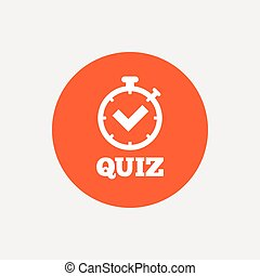 Quiz sign icon Questions and answers game - Quiz timer sign...