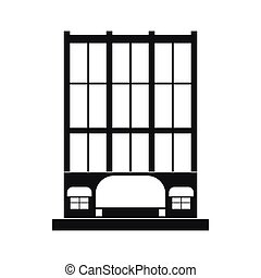 Shopping center store building icon