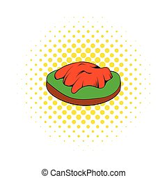 Himachal icon in comics style on a white background