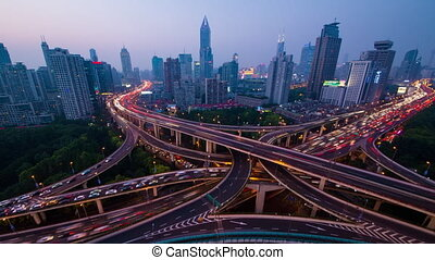 Shanghai city center transportation - Yanan Road...