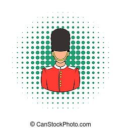 A Royal Guard icon, comics style - A Royal Guard icon in...