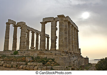 Sanctuary and temple of Poseidon at