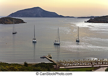Cape sounio area at Attica, Greece