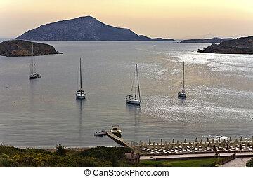 Cape sounio area at Attica, Greece