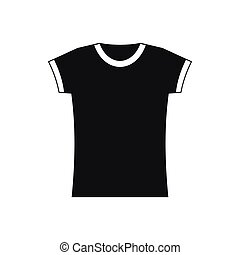 T shirt icon in simple style
