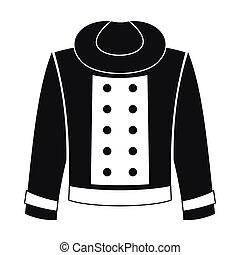 Female jacket icon, simple style