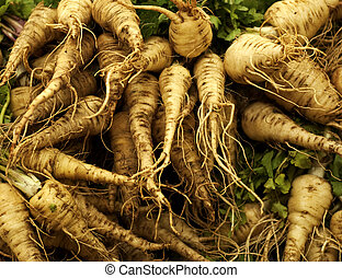 parsnip - A heap of fresh parsnip Photo taken on: May 15th,...