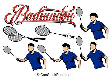 Summer kinds of sports. Badminton.