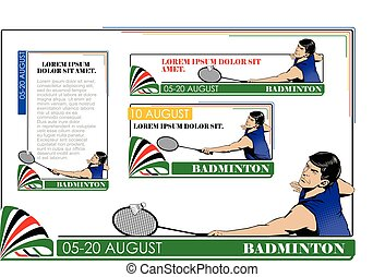 Summer kinds of sports Badminton