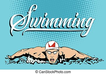 Summer kinds of sports. Swimming.